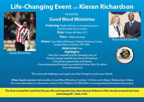 Kieran Richardson Leaflet