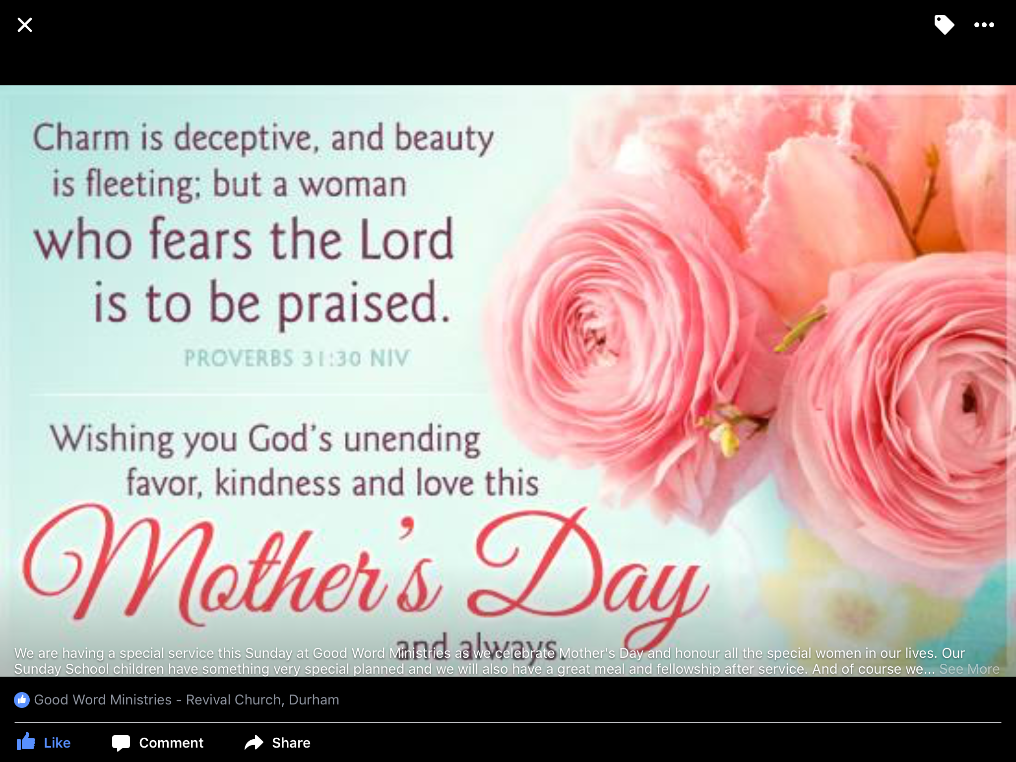 mother s day good word revival church durham